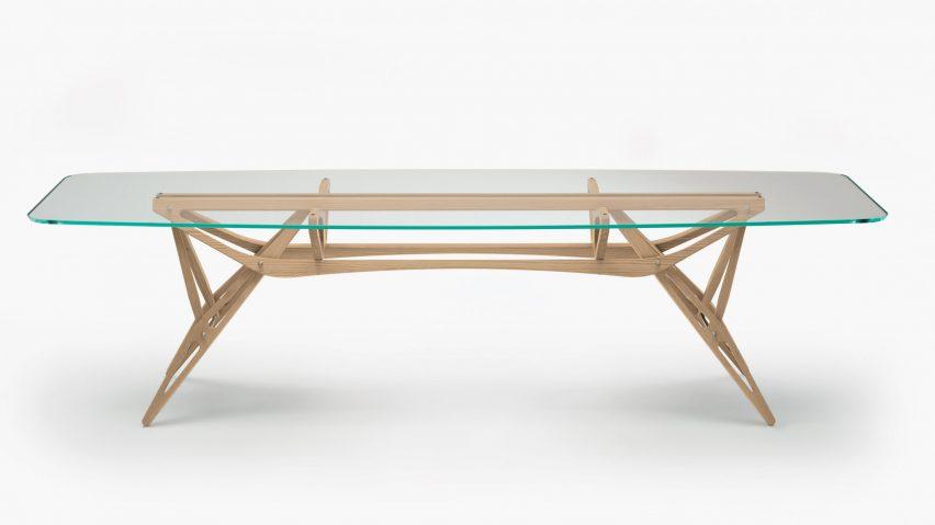 Reale table by Carlo Mollino and Zanotta