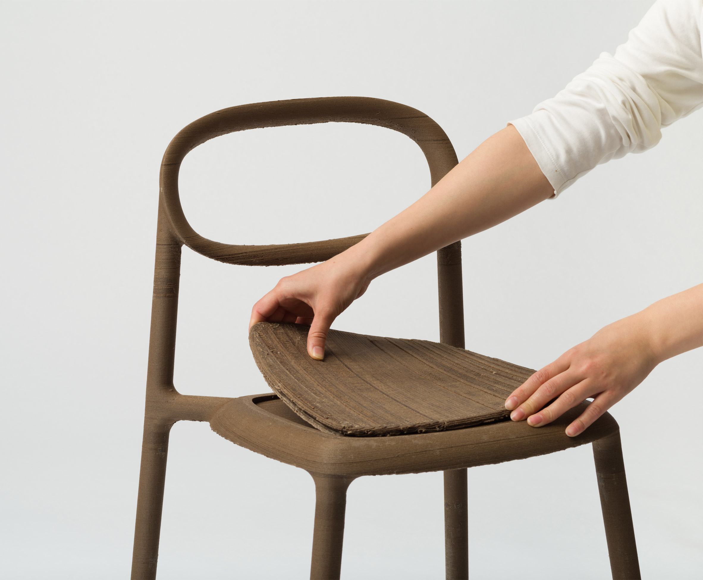 Nataša Perković makes textured designs from palm oil byproducts