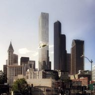 ODA carves high-rise park into residential tower proposed for Seattle