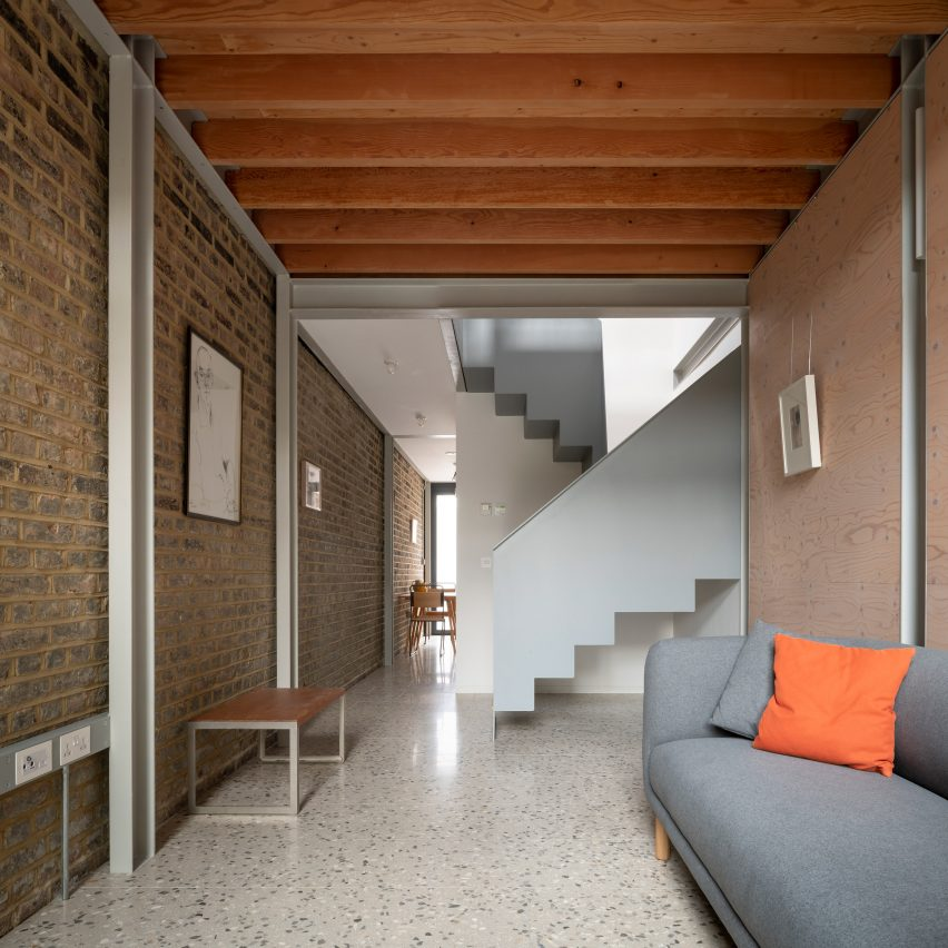 Slot House in Peckham, London, by Sandy Rendel Architects, working with Sally Rendel