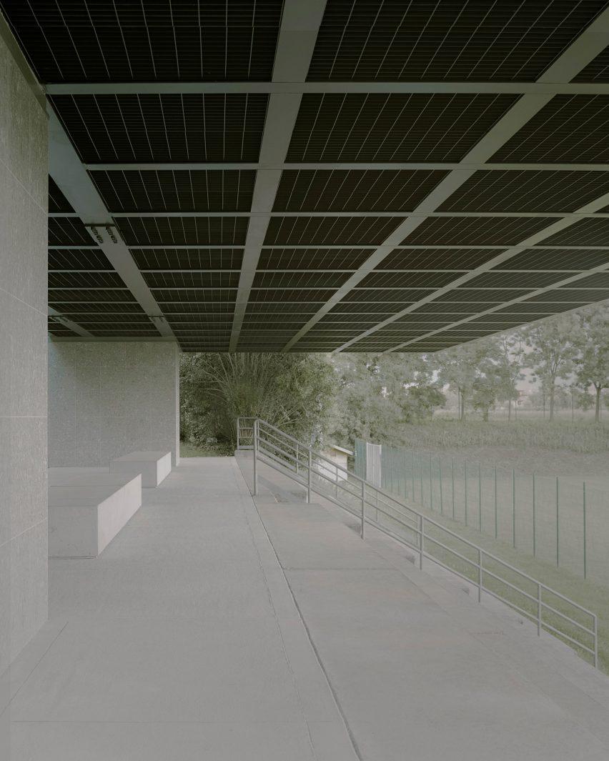 Municipal stadium in Travettore di Rosà by Didonè Comacchio Architects