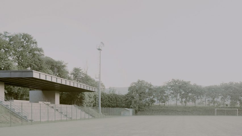 Municipal stadium in Travettore di Rosà by Didonè Comacchio Architects