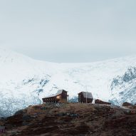 Snøhetta perches pentagonal hiking cabins alongside Norwegian glacier