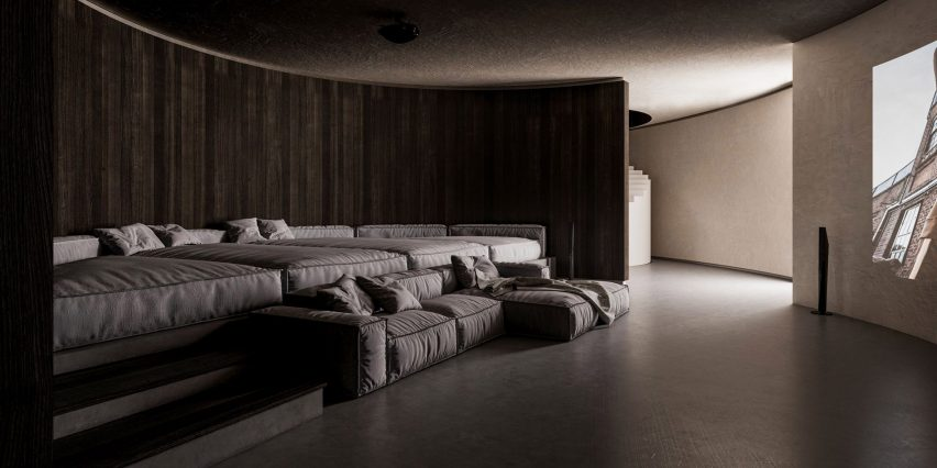 Plano de casa subterrânea B por Sergey Makhno Architects