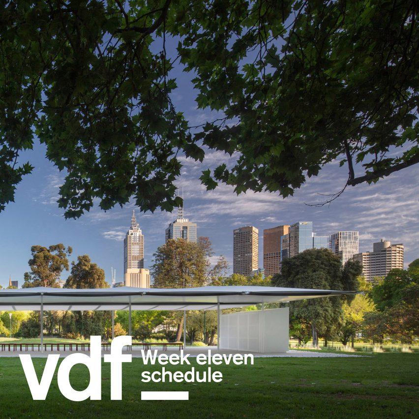 Virtual Design Festival schedule week eleven