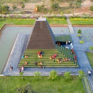 Sameep Padora & Associates creates stepped temple in Andhra Pradesh