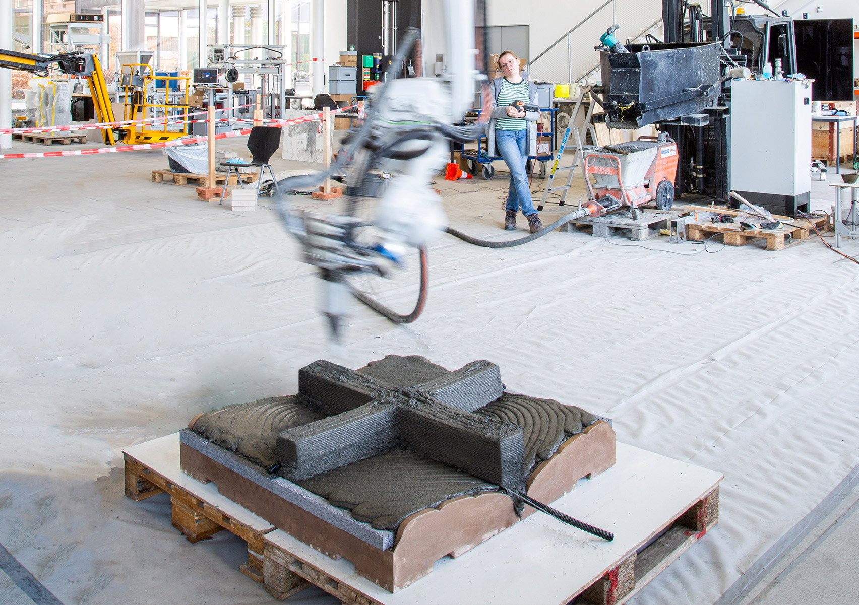 Fast Complexity concrete 3D printing by ETH Zurich
