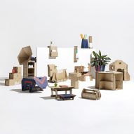 15 furniture designs made from repurposed cardboard revealed in the Dezeen x Samsung Out of the Box Competition shortlist