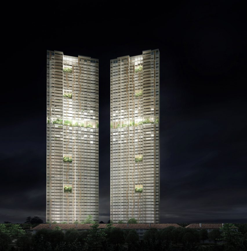 Avenue South Residences, world's tallest prefabricated skyscrapers in Singapore by ADDP