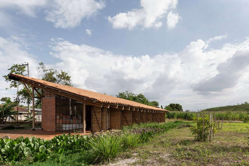 Clothing factory in Colombia made from bamboo canes
