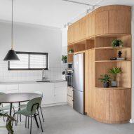 Rust Architects softens modernist Tel Aviv apartment with oak details