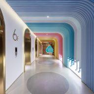 """Shanghai studio Arizon's interiors facilitate """"surprising spatial experiences"""""""