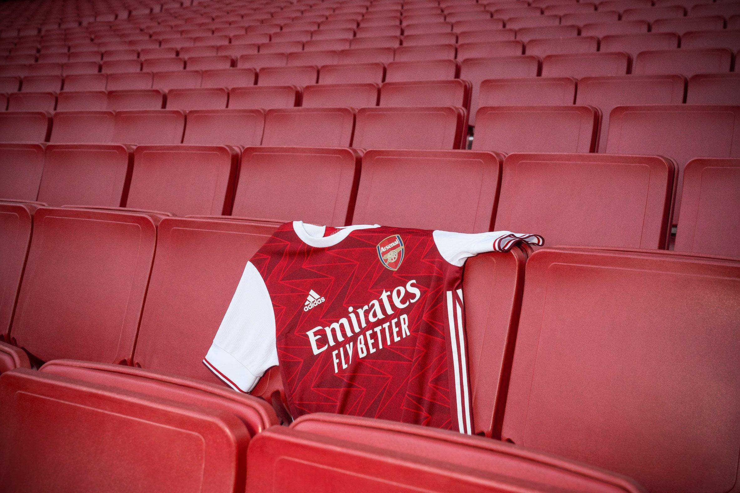 Arsenal 2020/2021 home shirt by Adidas