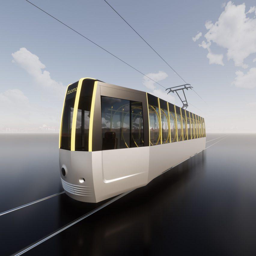Arturo Tedeschi redesigns the historic ATM Class 1500 tram for a post-Covid world