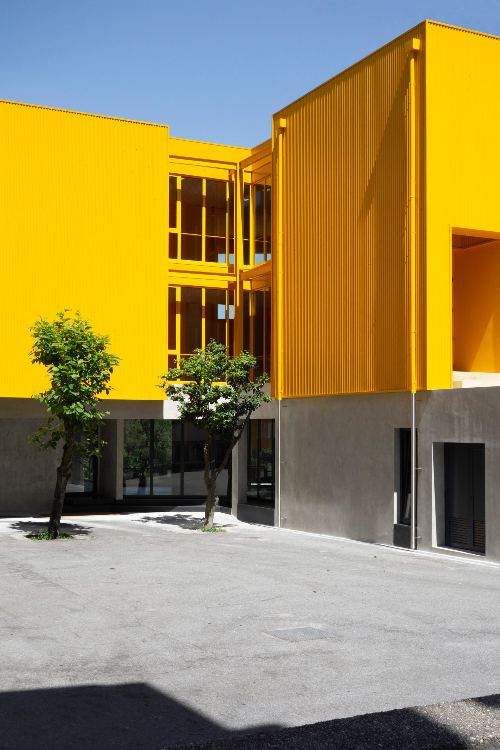 Artave music school in Caldas da Saúde, Portugal, by Aurora Arquitectos