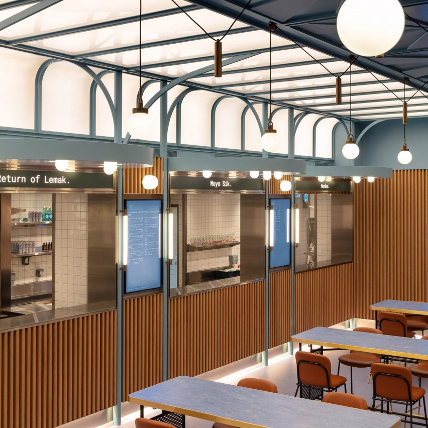 Linehouse channels nostalgia for interiors of Basehall food court in Hong Kong
