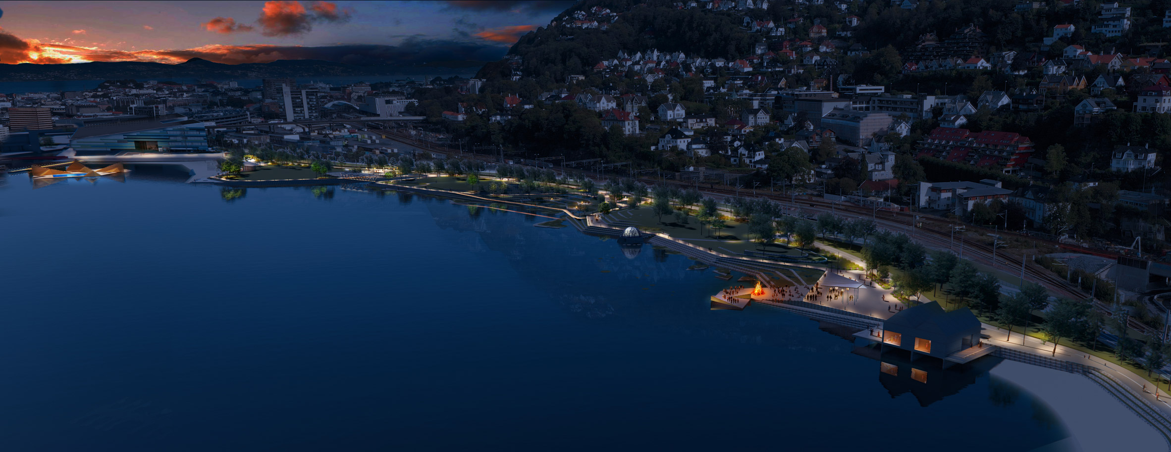 True Blue beach and sea pool in Bergen. Norway, by White Arkitekter
