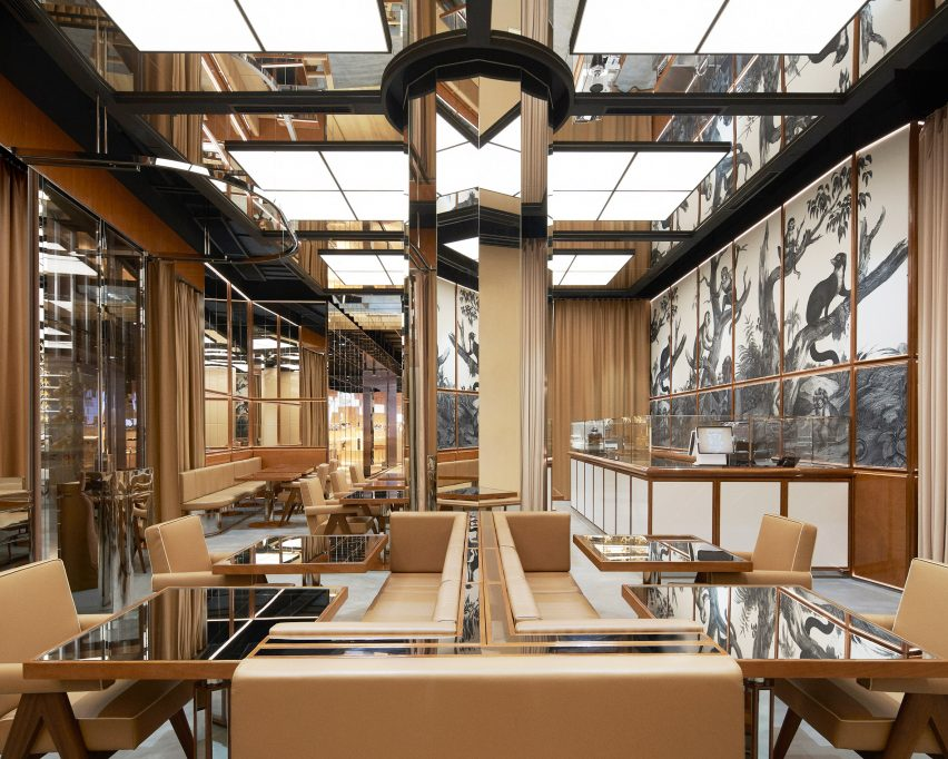 Burberry Shenzhen store in collaboration with Tencent and WeChat