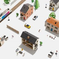 Anther Kiley designs DIY paper toys for building miniature cities