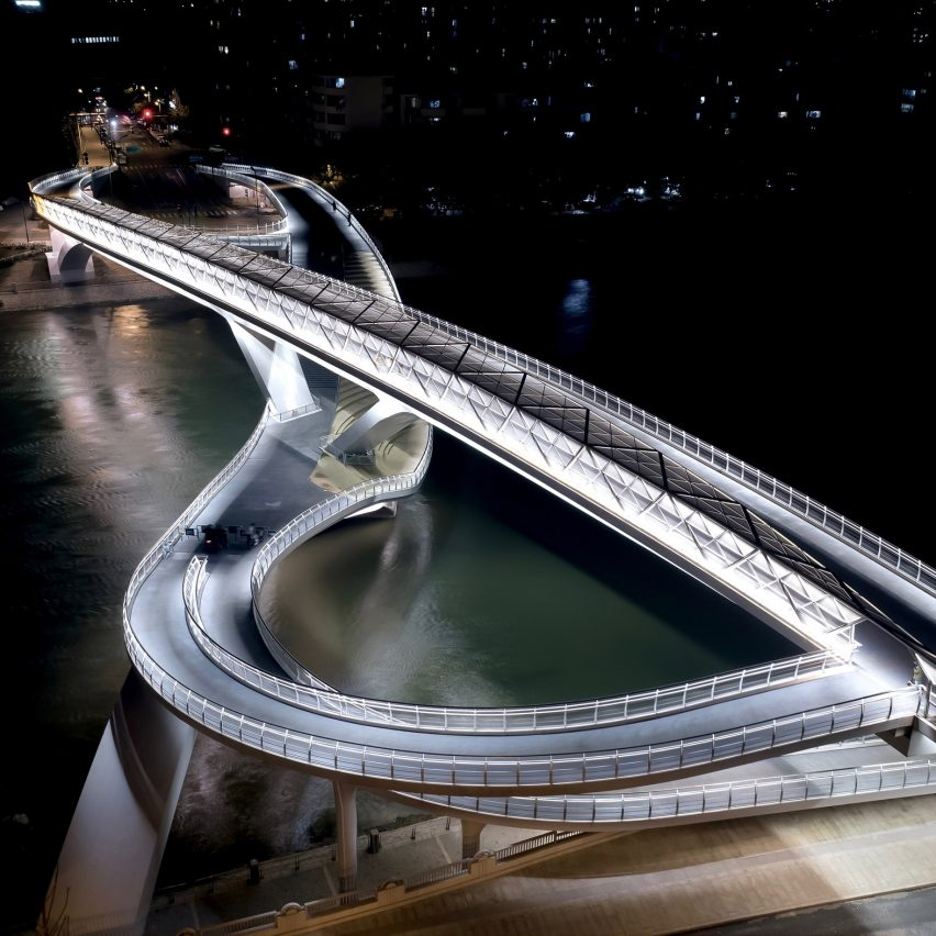 Wuchazi Bridge in Chengdu by architects Tom Wünschmann, Achim Kaufer, Wei Cai and Philipp Buschmeyer and Chinese design institutes SADI and JDTM