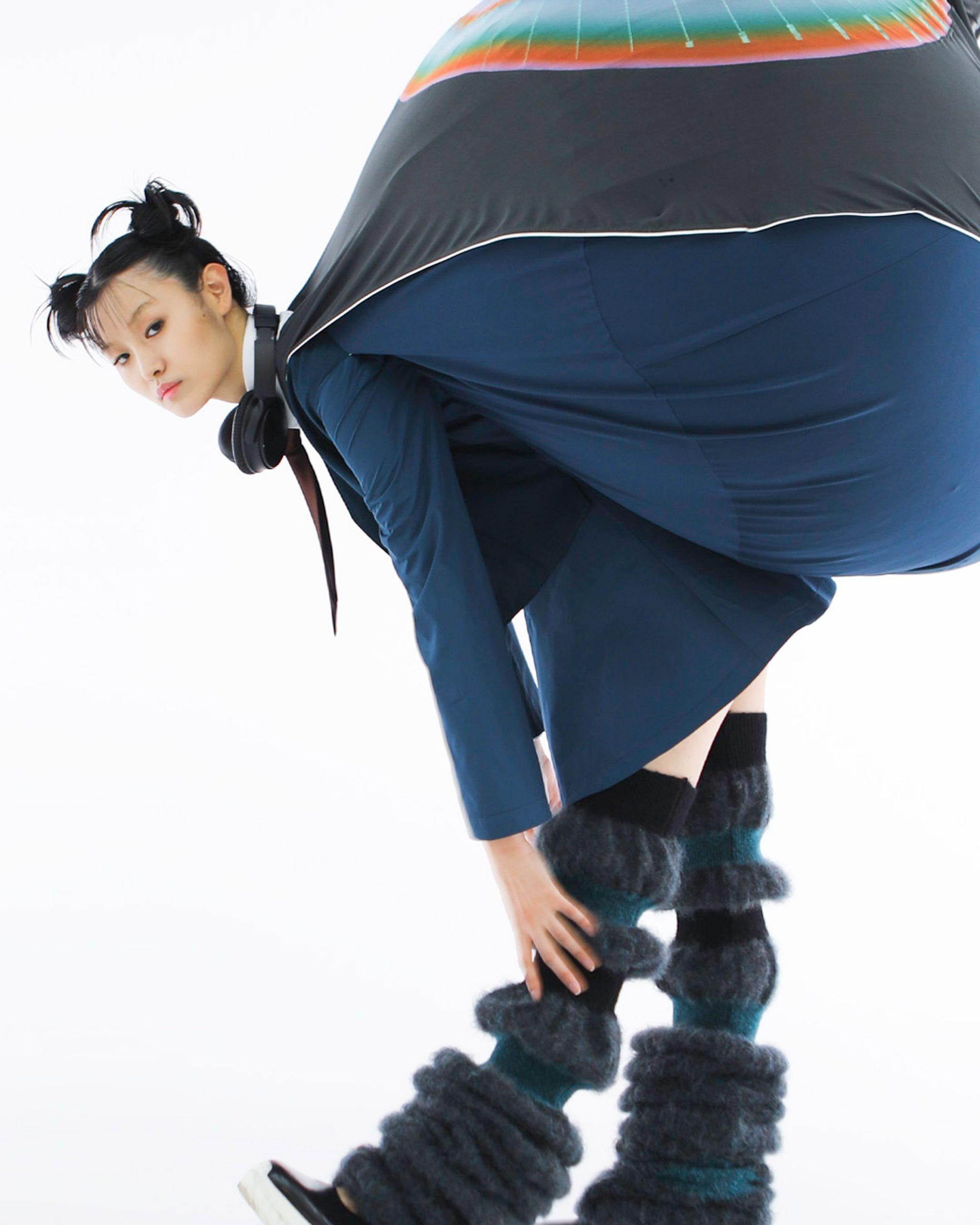 Central Saint Martins graduate Dahee Kim attaches bulbous beanbags to uniform-esque garments