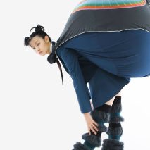 Central Saint Martins graduate Dahee Kim attaches bulbous beanbags to uniform-esque garments