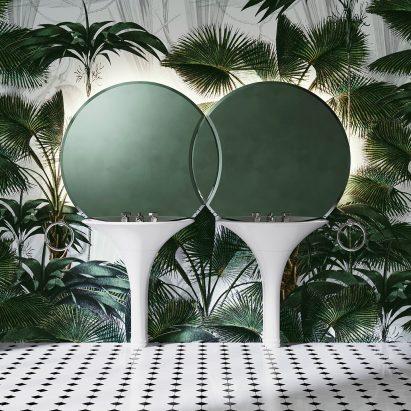 Double Kalos basin by Massimo Iosa Ghini for Devon&Devon