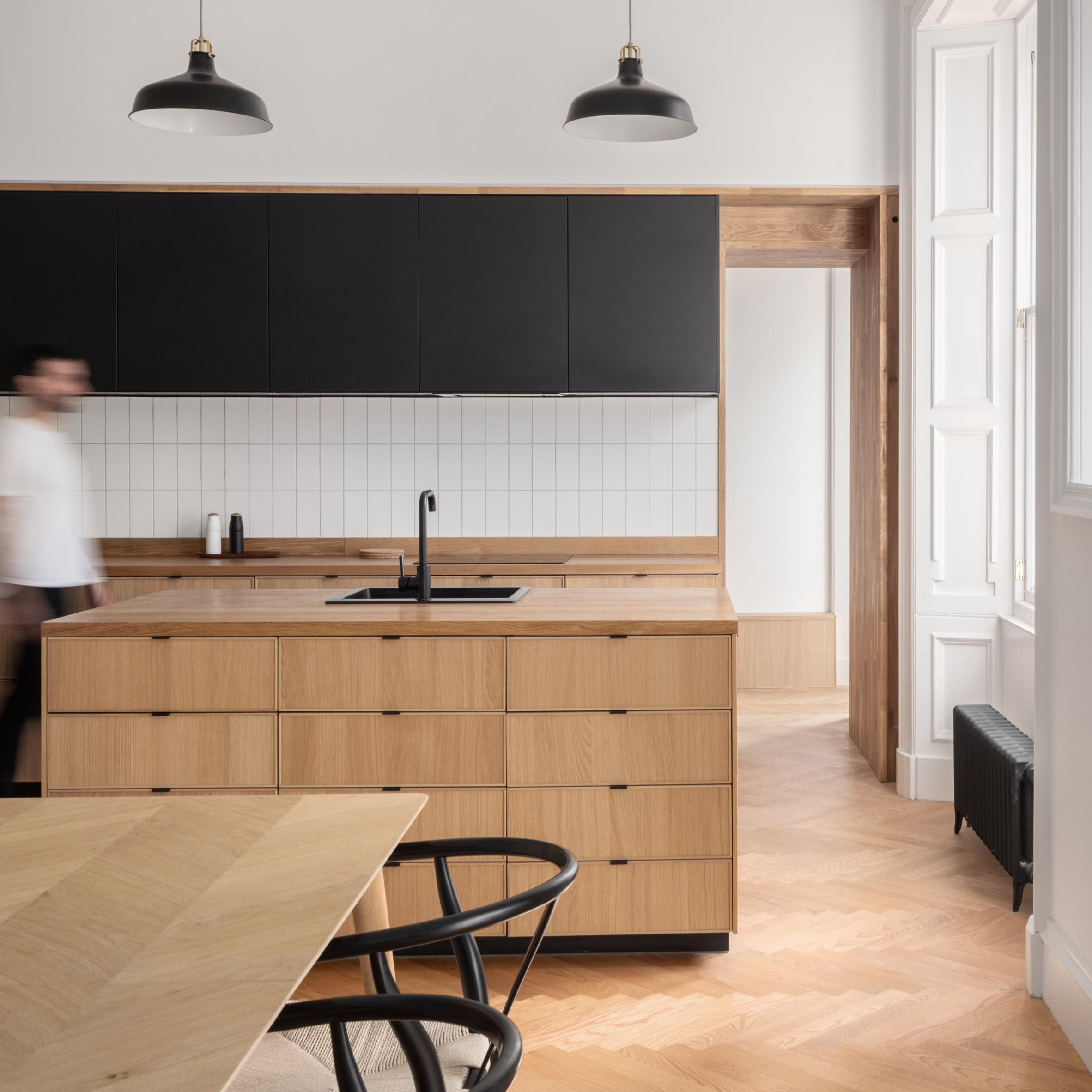 Architect duo turn Edinburgh apartment into modern living space