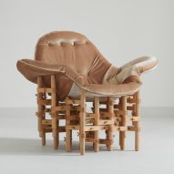 Envisioned Comfort furniture collection pairs velvet seats with wooden frameworks