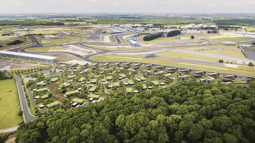 Escapade Silverstone holiday-home development at Silverstone race track byTwelve Architects