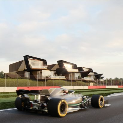 Escapade Silverstone holiday-home development at Silverstone race track by Twelve Architects