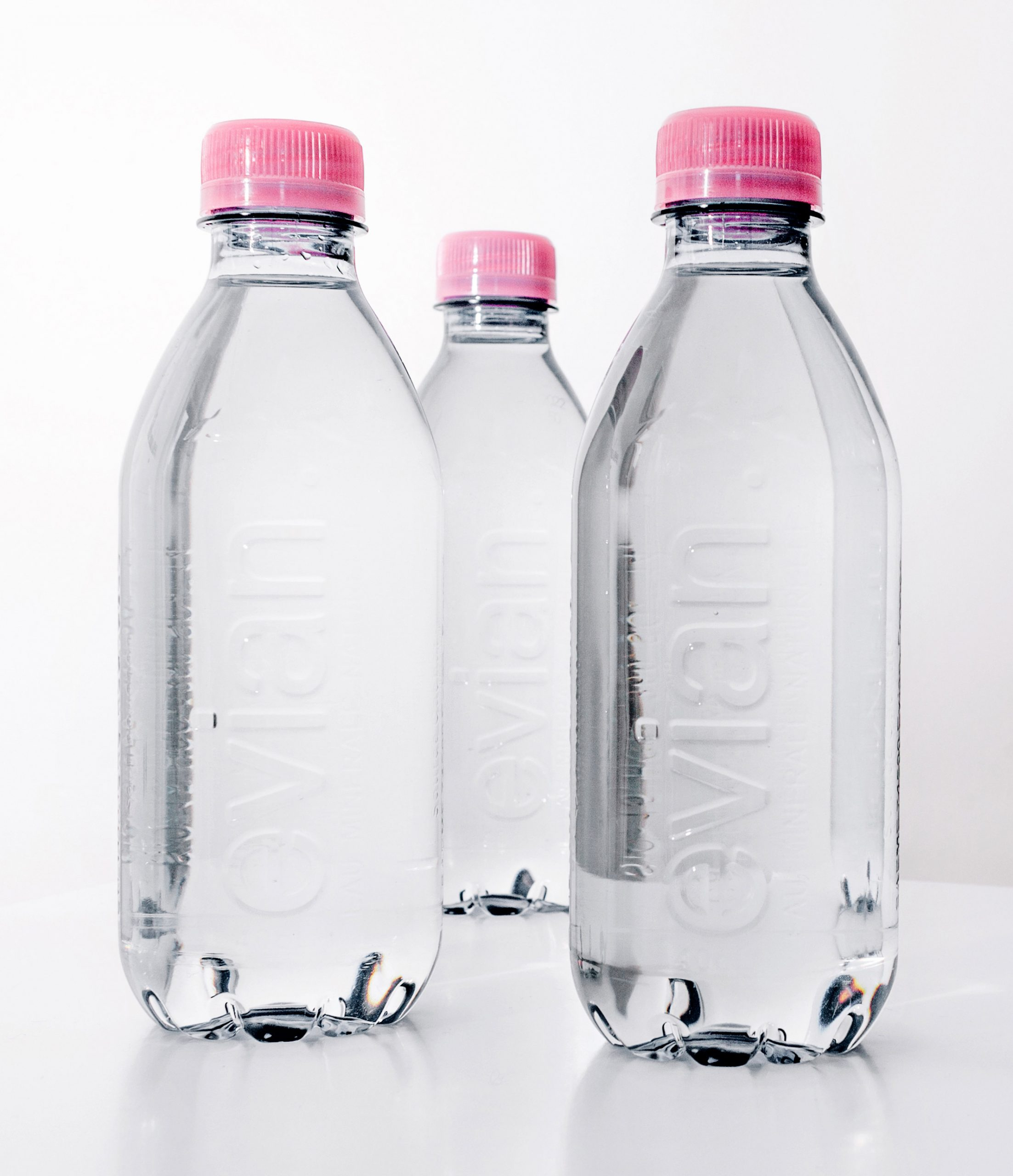 Evian releases label-free bottle made from recycled plastic