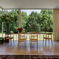 Farnsworth House installation replicates Edith Farnsworth's original decor
