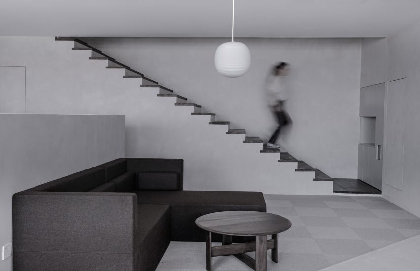 Fnji Office In Beijing Has Greyscale Interiors By Xiaoxi Xiong