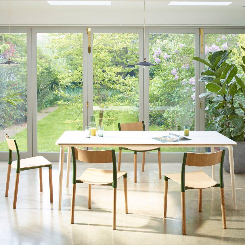 Allermuir designs flat-pack dining furniture Folk