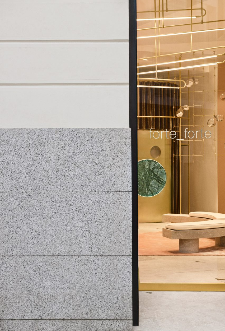Forte Forte store in Madrid designed by Giada Forte and Robert Vattilana