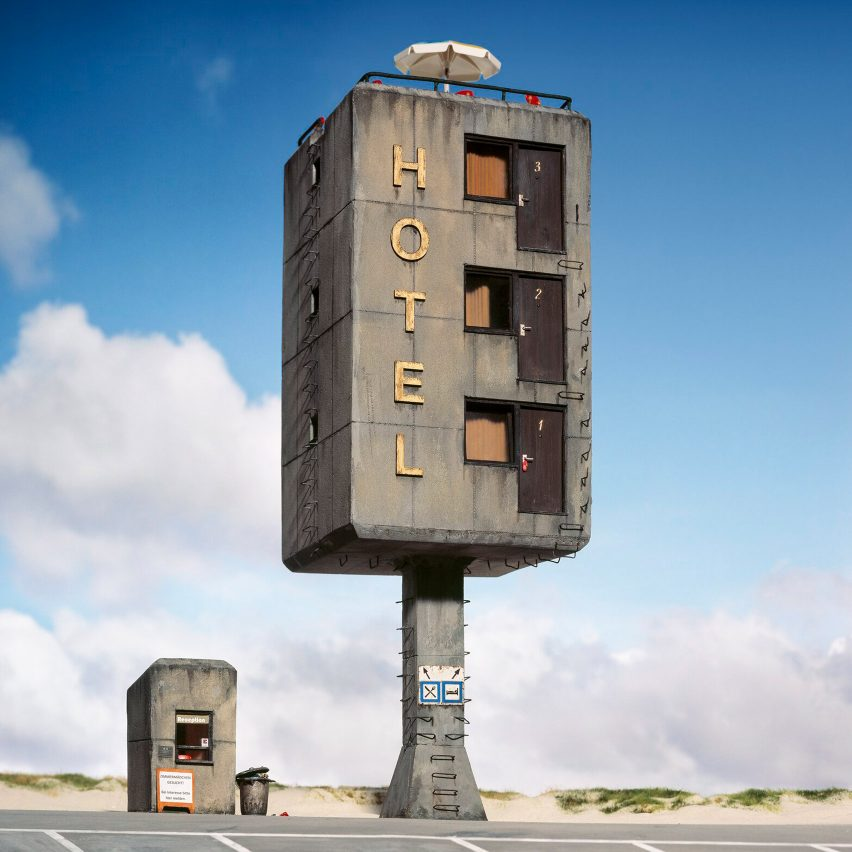 Frank Kunert creates and photographs absurd architectural situations