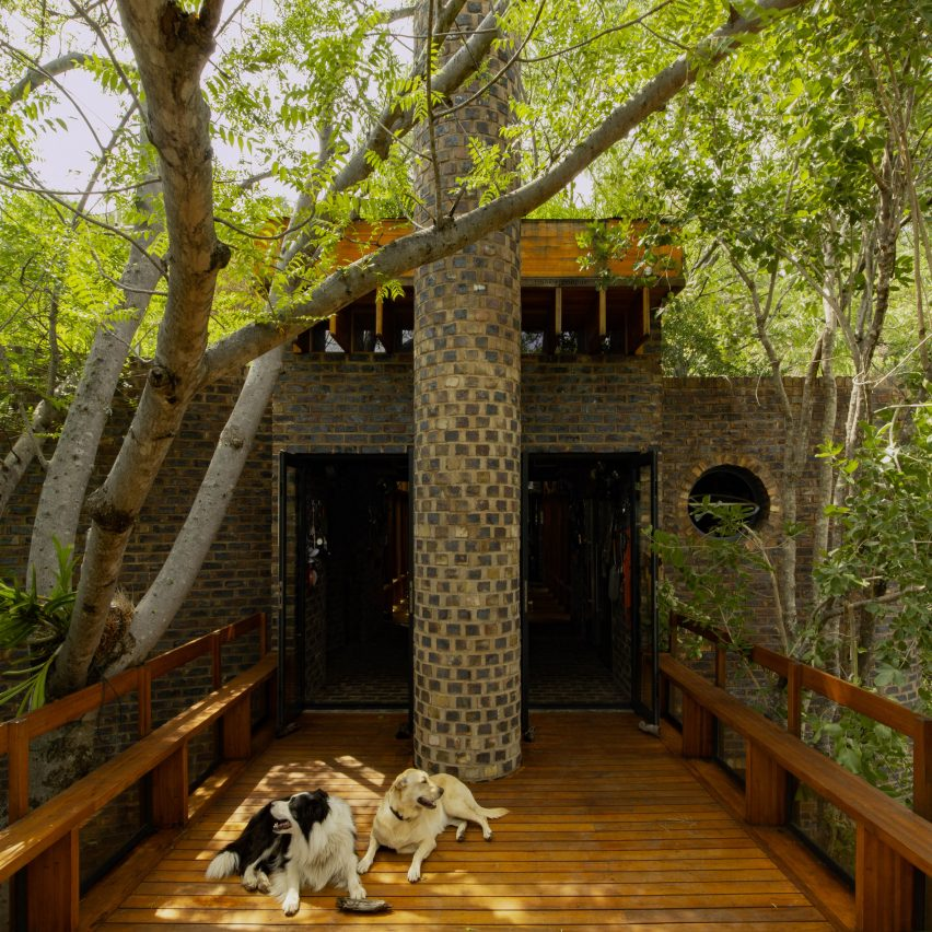 House of the Big Arch in the bushveld nature reserve, South Africa, by Frankie Pappas