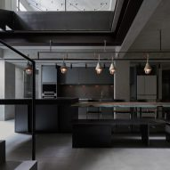 KC Design Studio creates moody grey living spaces in basement of Taipei apartment