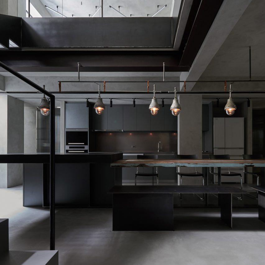 KC Design Studio creates moody grey living spaces in basement of Taipei apartment