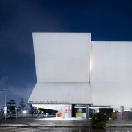 Folded facades invite visitors into iADC Design Museum in Shenzhen