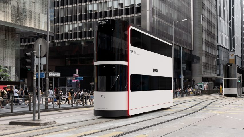 Ponti Design Studio creates driverless tram concept for Hong Kong post-Covid
