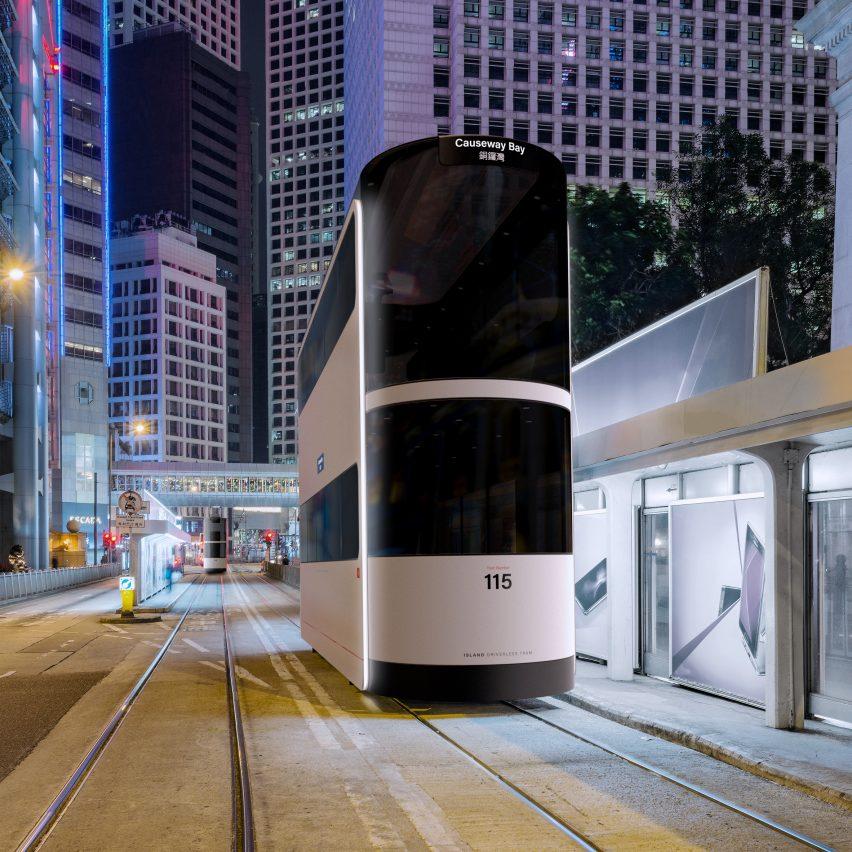 Ponti Design Studio creates driverless tram concept for Hong Kong post-Covid