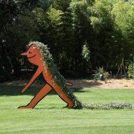 Jean Jullien creates line-drawn sculptures for Nantes' Le Jardin des Plantes