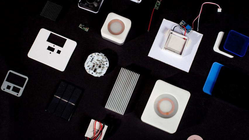 """Lilin Jiao models Nect wireless charger on """"parasitic relationships"""""""