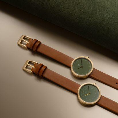 Artisan watch in Dusty Olive by Maven