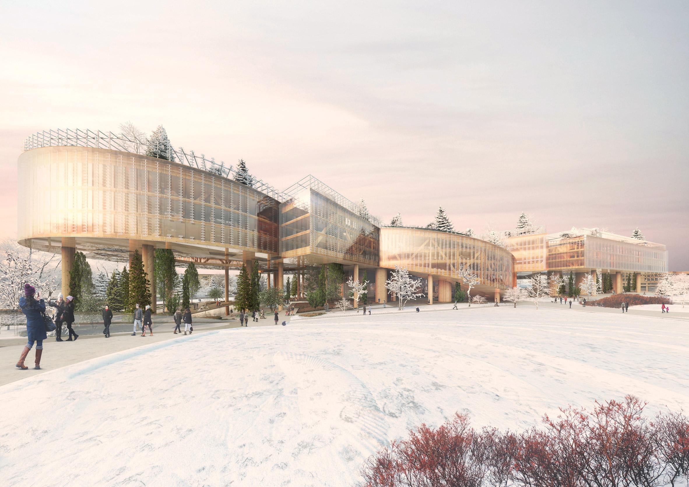 Gazprom Neft headquarters in Saint Petersburg by MVRDV