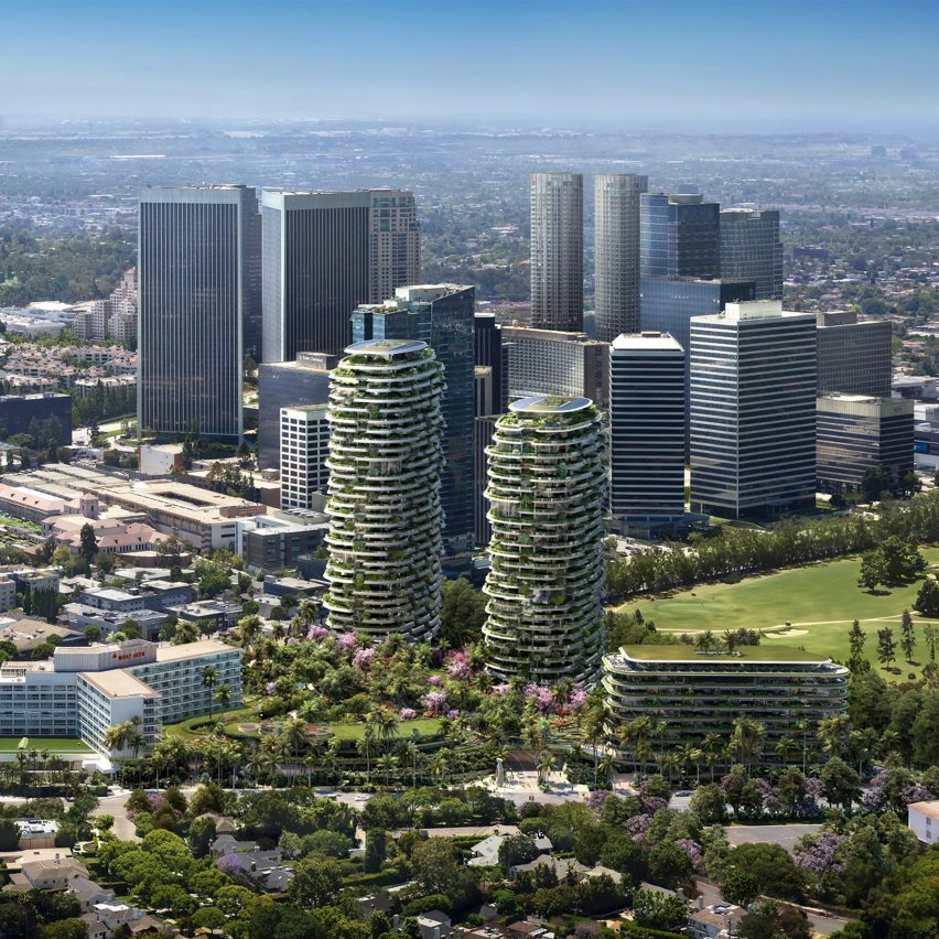 Foster + Partners' One Beverly Hills masterplan includes luxury hotel and lush gardens