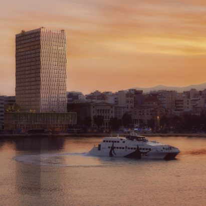 PILA designs facades to rejuvenate Greece's long-abandoned Piraeus Tower