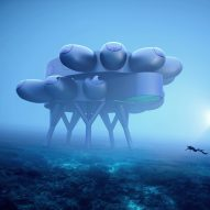 Proteus is an underwater habitat with a greenhouse designed by Yves Behar